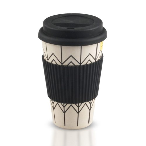plastic coffee mugs with black lid and silicone sleeve