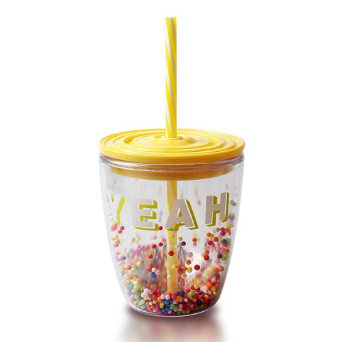 Reusable Plastic Tumblers With Lids (4)