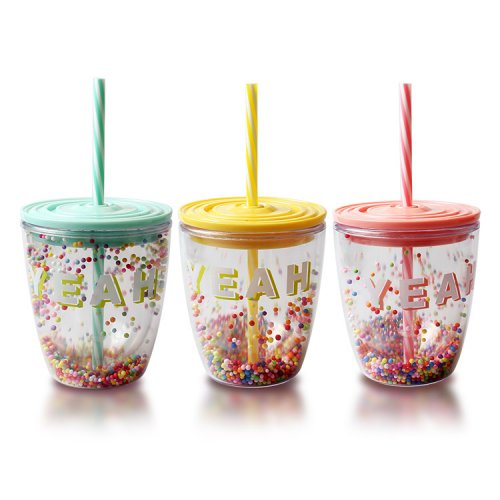 Reusable Plastic Tumblers With Lids (5)