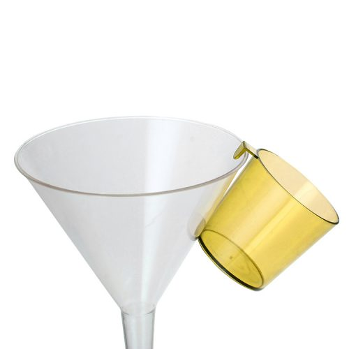 2oz plastic shot glass with hook