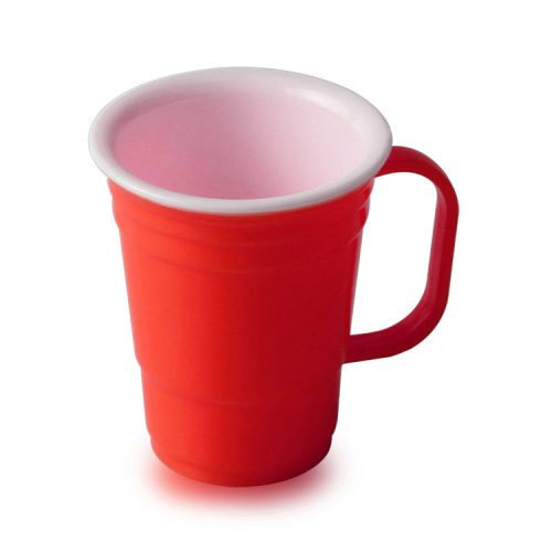 2oz red plastic solo cup with handle