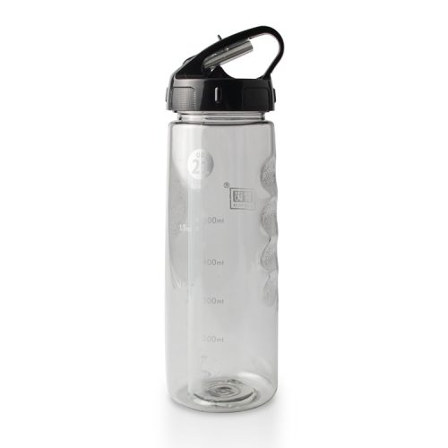 clear plastic water bottle