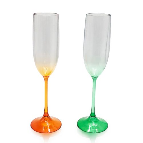 colorful plastic goblets