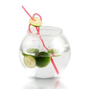 30oz Plastic Fish Bowl For Drinking