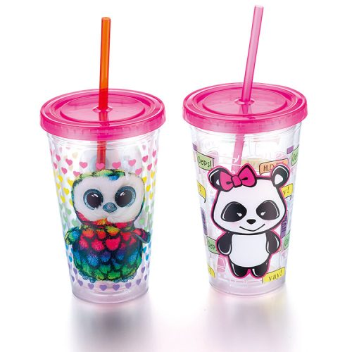 Plastic Tumbler With Logo