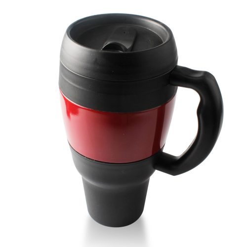 plastic insulated coffee mugs with handles