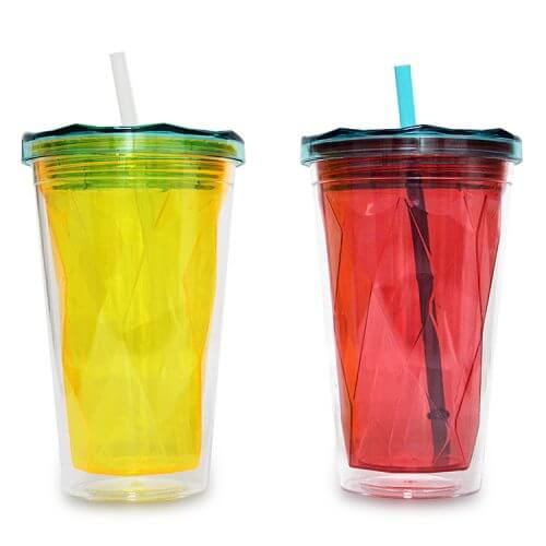 Ruffly Tumbler Double Wall Tumbler with Straw