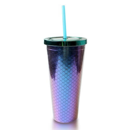Plastic Tumbler With Shiny Squama