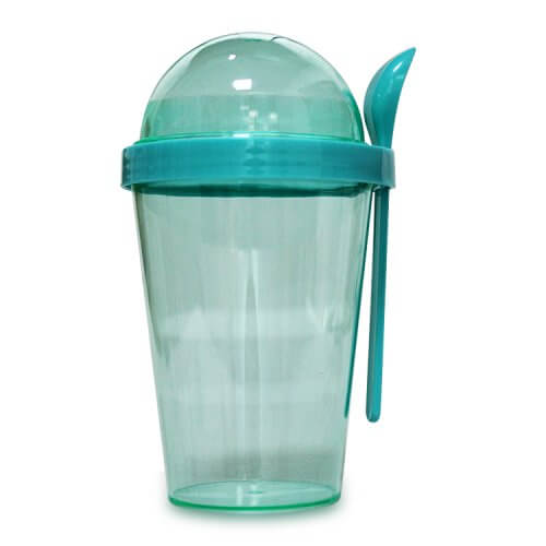 Plastic Tumbler With Snack Container and Spoon (2)