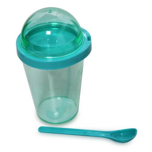 Plastic Tumbler With Snack Container and Spoon (3)