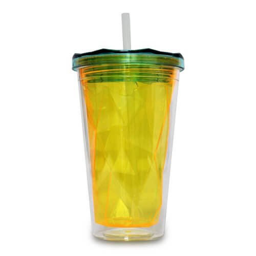 Ruffly Tumbler Double Wall Tumbler with Straw (2)