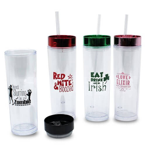 Skinny Tumbler with Cover For Events (4)