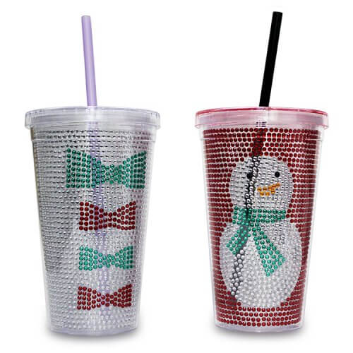 promotional snowman tumbler in plastic