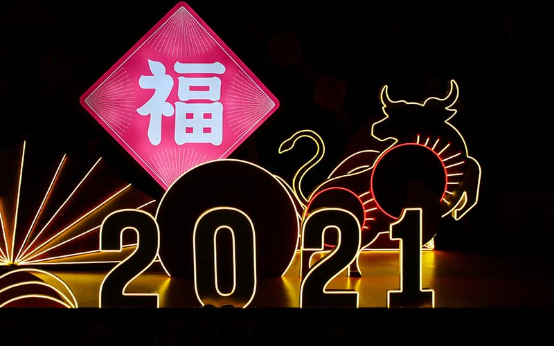 happy chinese new year of ox
