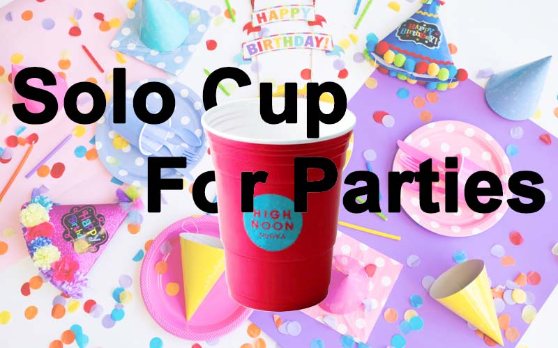 red plastic solo cup