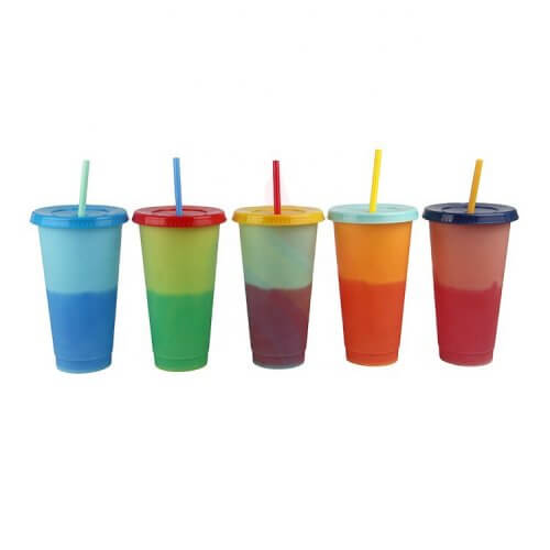 changing color cups