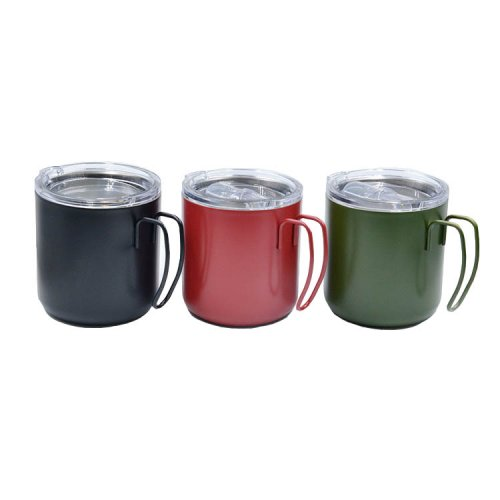 stainless steel mugs with handles